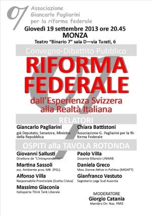 Incontro sul Federalismo